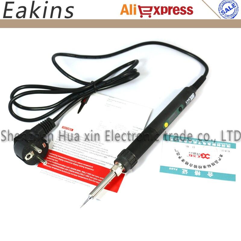 CXG DS60T Professional LCD Adjustable Digital Electric soldering iron Soldering station EU US plug