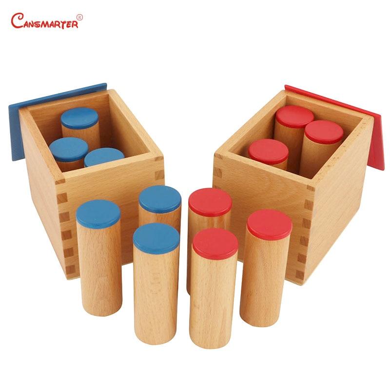 Bois de hêtre Montessori jouets sensoriels en bois boîtes sonores aides pédagogiques enfants jouets éducatifs préscolaires SE021-3 de mathématiques sensorielles
