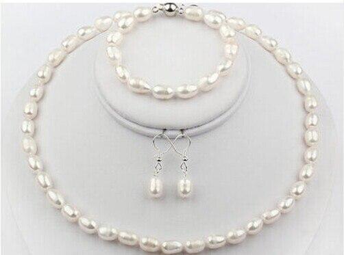 8 STRANGE 8-9 mm de culture eau douce Perles Bijoux Chaîne Collier Baroque