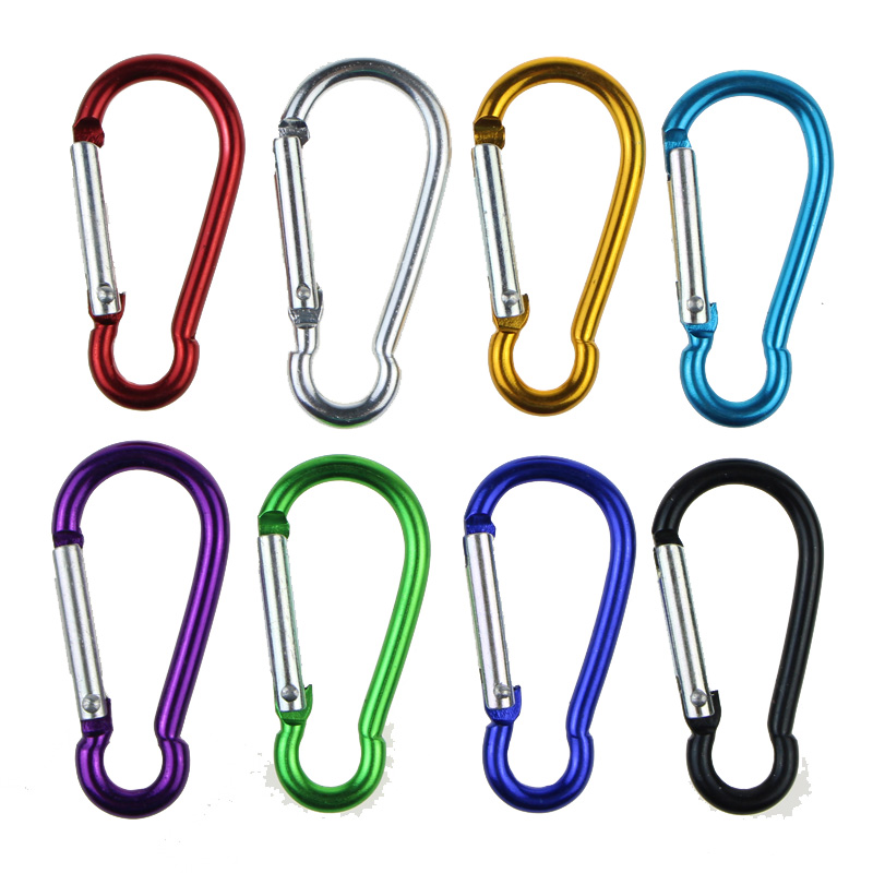 Image 3 - 10pcs Climbing Carabiner Hiking Camping Aluminum Alloy Buckle Keychain Hook Outdoor Travel Kits Bag Accessories Gadgets R shape-in Climbing Accessories from Sports & Entertainment