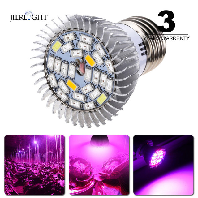 5pcs Full Spectrum Grow Lamp Led E27 Led Grow Light Led Growing Lamp for Hydroponics Flowers Plants Vegetables Growing Lights