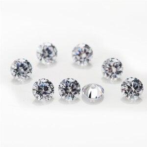Image 3 - 5000 pièces 5A CZ pierre 0.8 5.0mm prix usine rond Machine coupe blanc couleur lâche cubique zircone gros synthétique pierre précieuse