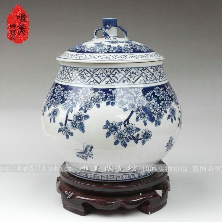 Jingdezhen keramik Fünf gute große nur blau und weiß porzellan blauer schmetterling - 2