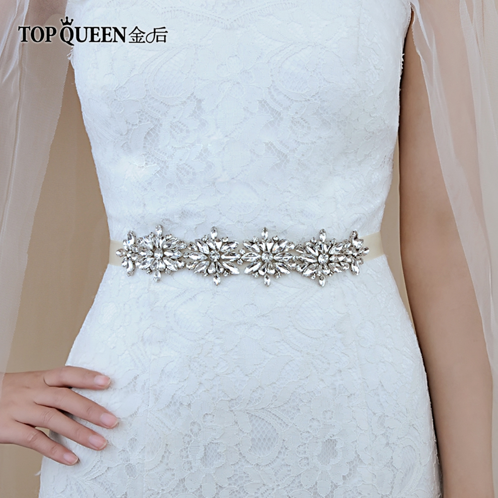 TOPQUEEN S239 Haute Qualité Strass Femmes Accessoire de luxe mousseux  diamant bricolage accessoires ceintures de robe de mariage pour la partie 1ec57f06ebd