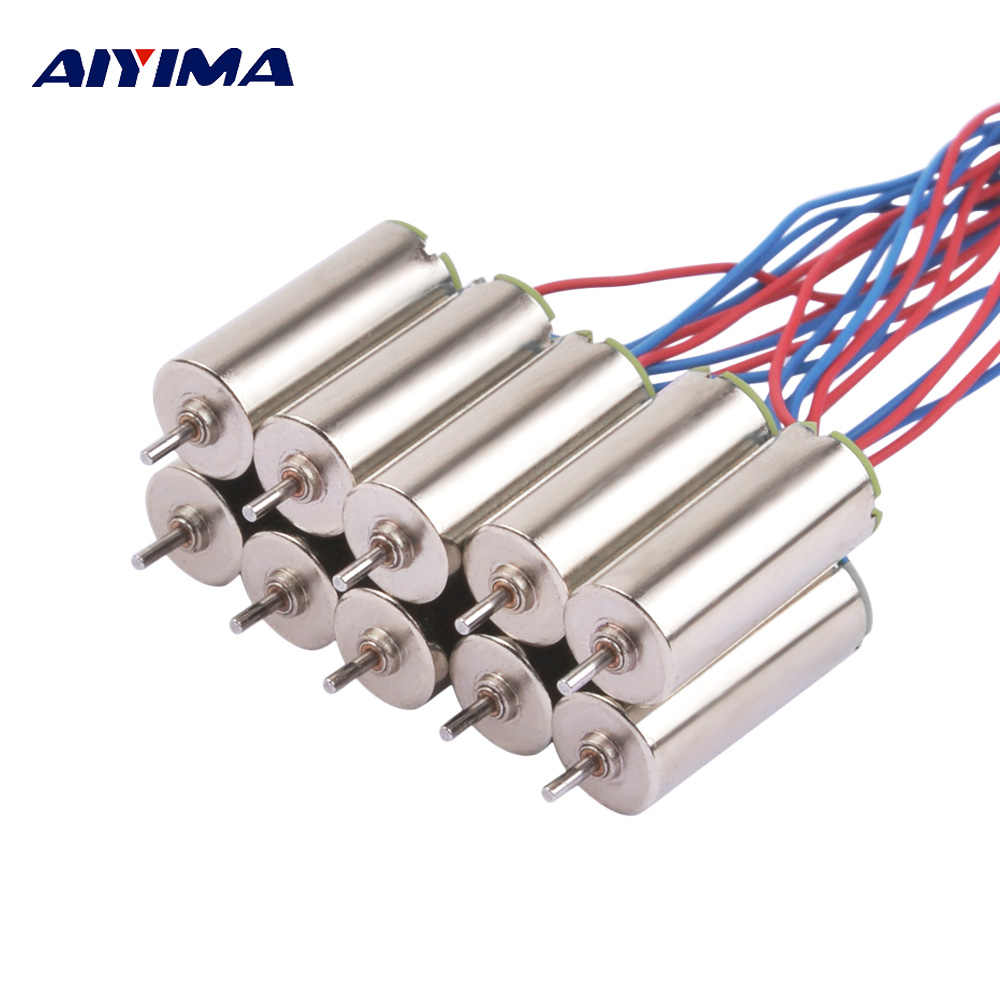 AIYIMA 10pcs Micro 615 Coreless Motors NdFeB Magnetic Motore For Helicopter Airplane Robotic (614 Enhanced Edition)