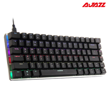 Ajazz AK33 82 keys Mechanical Gaming Keyboard Russian / English layout, RGB backlight, Blue / Black Switch