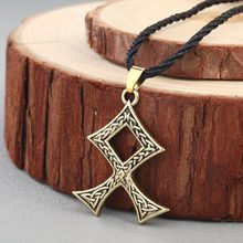 CHENGXUN Viking Necklace Men Slavic Norway Valknut Pagan Amulet Pendant Cross Knot Vintage Jewelry Gift for Best Friends(China)
