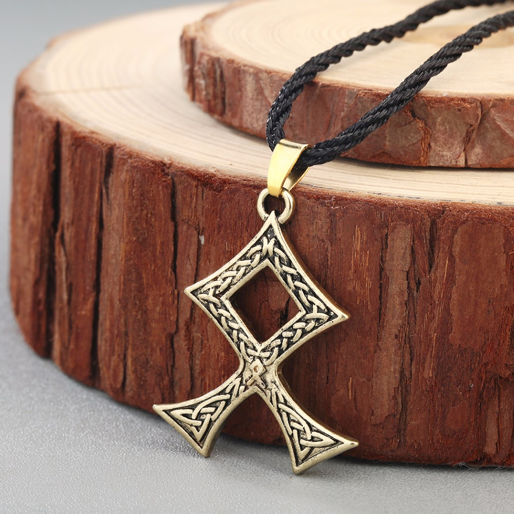 Dawapara Vintage The Sign of Perun Slavic God Solar Symbol Pendant Necklace Protection Jewelry