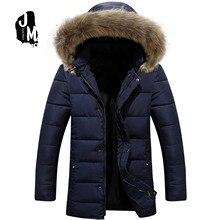 Patchwork Mens Padded Coat Fashion slim medium long Winter Jacket Men Slim Warm Wadded Coat men Hoodies Parkas