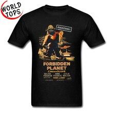 Vintage Forbidden cartel de planeta camiseta increíble OVNI nave espacial Alien Monster ciencia diseño camisetas Star War verano camiseta