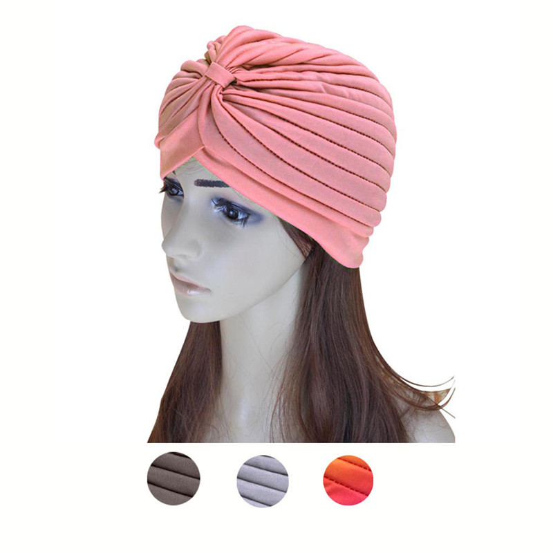 Mooistar #4033X Women Men India Hedging Fold Scarf Hat 35colors silver gold soild india scarf cap warmer ear caps yoga hedging headwrap men and women beanies multicolor fold hat 1pc