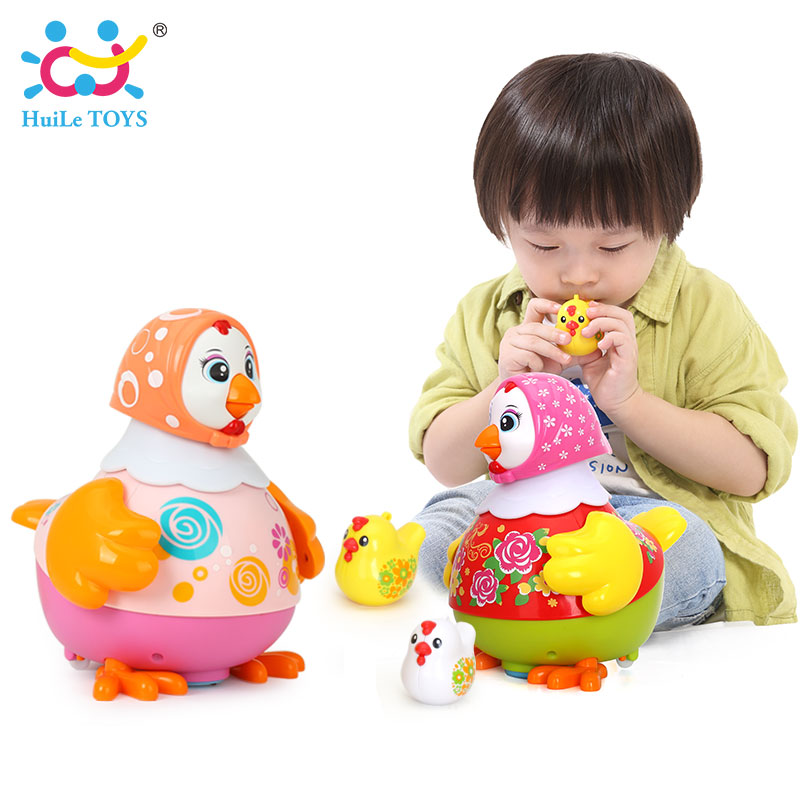 HUILE TOYS 6102 Baby Toys Electric Chicken Talking Sing & Dancing with Whistle Chick Learning Developmental Toys for Children random delivery baby funny wooden toys developmental dancing standing rocking giraffe animal handcrafted toys