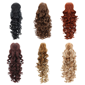 """Image 2 - 18""""Synthetic Ponytail Wigs Claw Clip On Hair Extensions Hairpiece Long Deep Wave Clip In Ponytail Hair Extension Heat Resistant"""