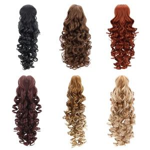 """Image 2 - 18 """"sentetik At Kuyruğu Peruk Pençe Klip saç ekleme Postiş Uzun Derin Dalga Klip At Kuyruğu Saç Uzatma Isıya Dayanıklı"""