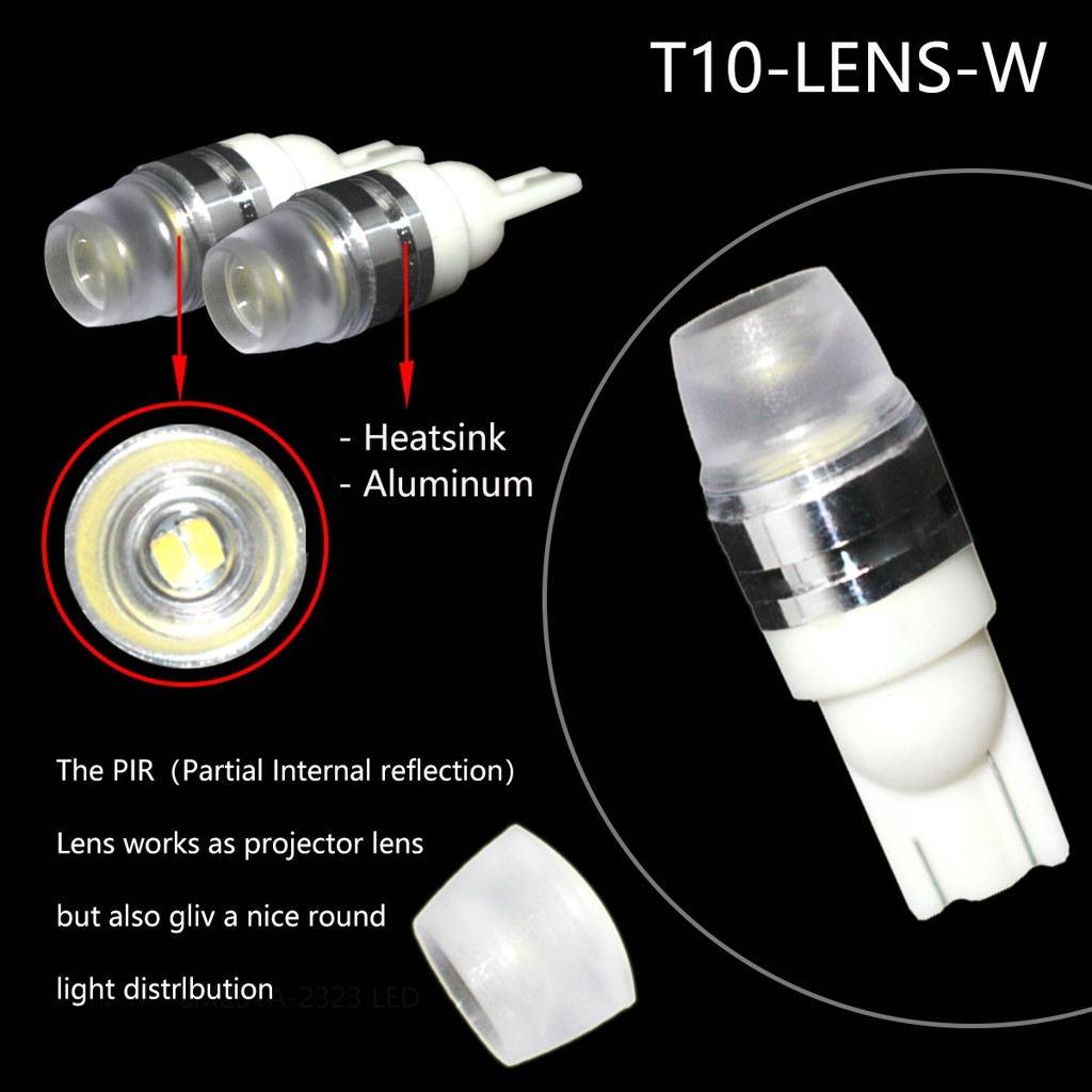 Image 3 - 2 x T10 LED Concave Lens Interior Light Bulbs COB Width Wedge Side Lamps 6000K LED Light Bulbs For Cars Reading Panel Lights-in Signal Lamp from Automobiles & Motorcycles