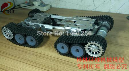 цена на Big! 4 WD Obstacle Surmounting Tank Car Chassis/high Torque,Metal Structure,Big Load/smart Tank Car Chassis for DIY