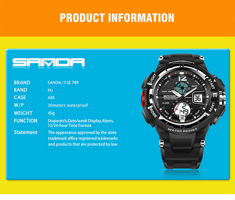 brand sanda led digital wristwatches for student (11)