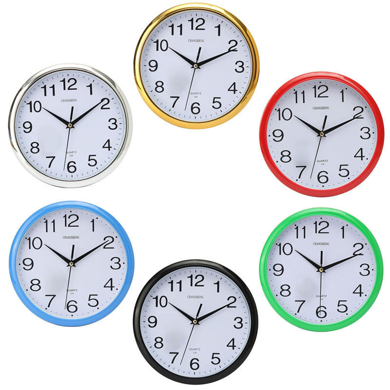 12 Hour Display Silent Retro Modern Round Colorful Vintage Rustic Decorative Antique Bedroom Retro Time Kitchen Home Wall Clock