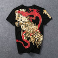 Chinese style dragon tattoo T-shirt large size men's Wukong tide men short sleeve hot-selling T-shirt print mens t-shirt M-5XL