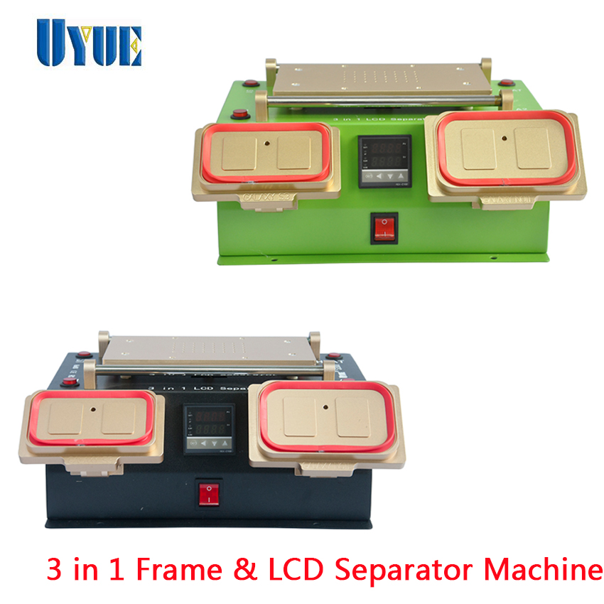 UYUE 3 In 1  LCD Screen Separator Built-in Vacuum Pump Middle Frame Separator for Samsung / Touch Screen Machine S300 3 in 1 multifunction preheater station middle bezel frame separator machine vacuum screen separator machine