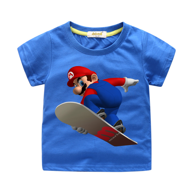 2019 Children Summer 3D Cartoon Mario T-shirts Costume Boys T Shirts Girls Clothing Kids Short Sleeve Tees Tops Clothes WJ1672019 Children Summer 3D Cartoon Mario T-shirts Costume Boys T Shirts Girls Clothing Kids Short Sleeve Tees Tops Clothes WJ167