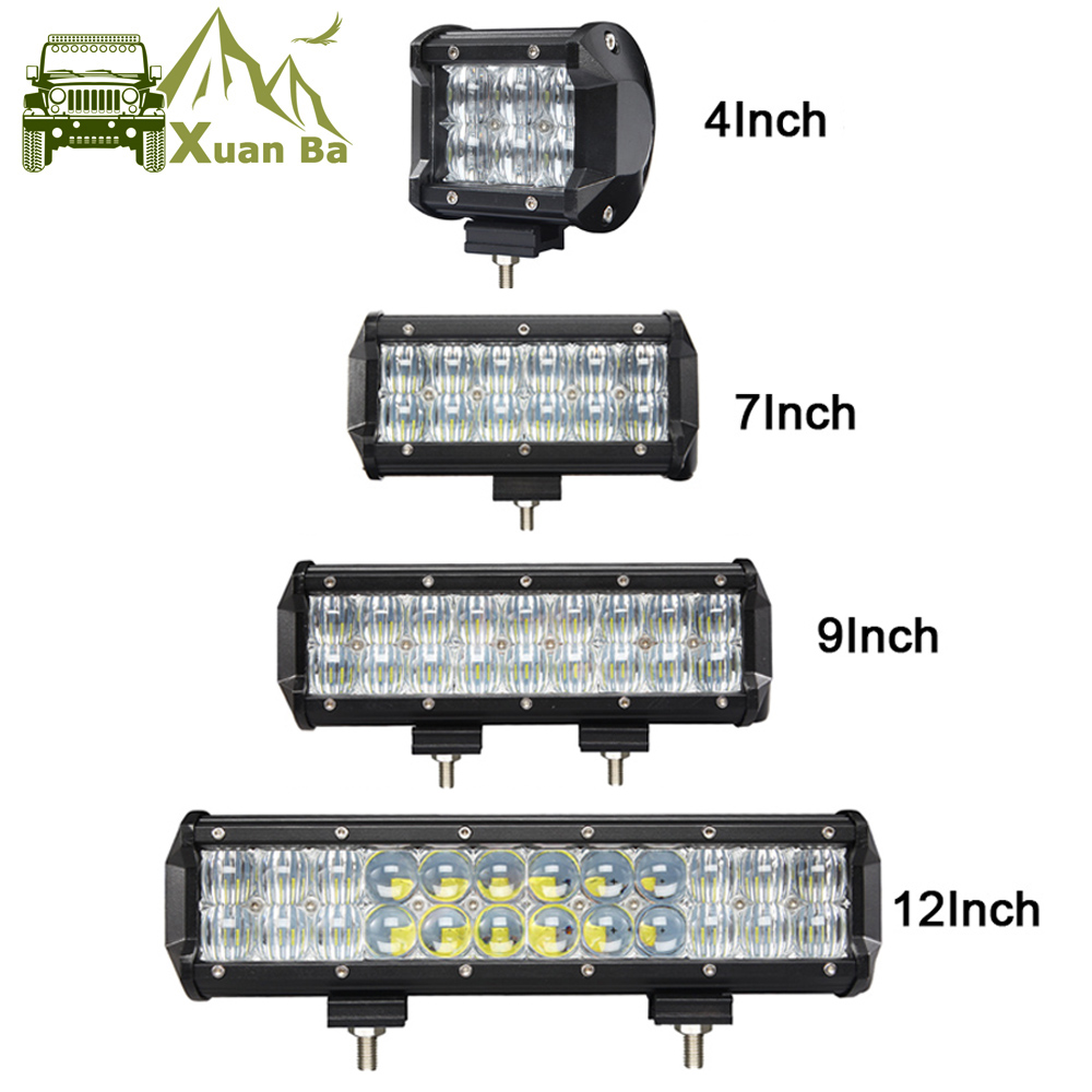 4 30W 7 60W 9 12 5D Offroad Led Light Bar For 4x4 4WD Truck UAZ