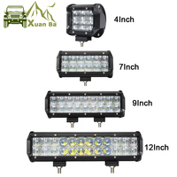 XuanBa 4 12 Inch 60W 5D LED Work Light Bar For Tractor 4x4 OffRoad 4WD Motorcycle