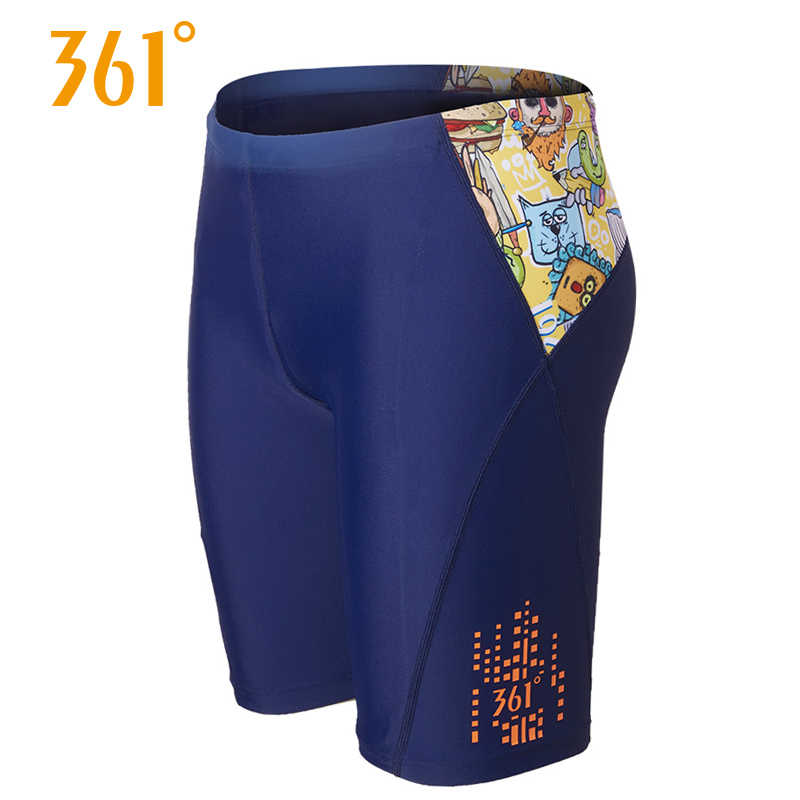701784f745 361 Male Black Swim Short Professional Men's Swimming Trunks Competition Swimming  Shorts Pool Swim Trunks Beach