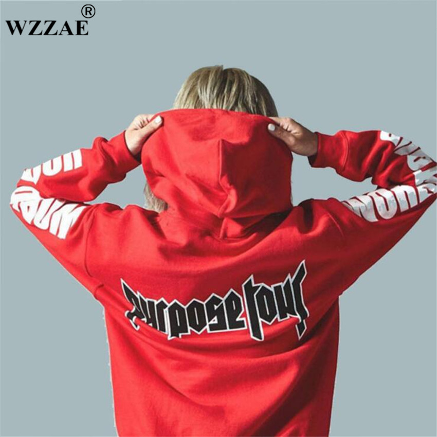 2017 Justin Bieber Purpose Tour Print Hoodie Men Hip hop Streetwear Fleece Cotton Pullover WORLD TOUR Special Women Sweatshirt