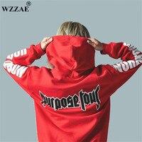 2017 Justin Bieber Purpose Tour Print Hoodie Men Hip Hop Streetwear Fleece Cotton Pullover WORLD TOUR