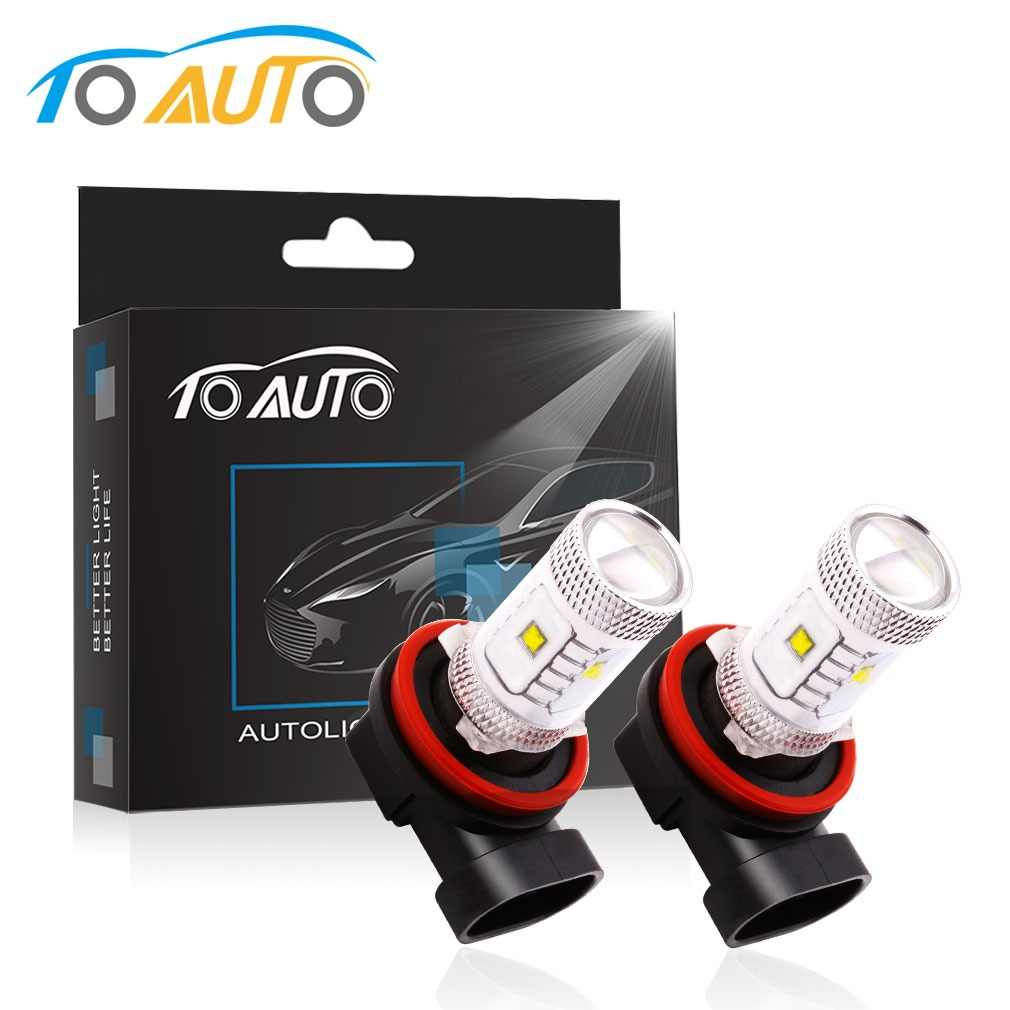 2pcs H11 H8 High Brightness 30W LED chips  Pure White Driving Tail Head Light Bulb Lamp parking car light source