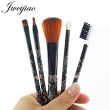 JWEIJIAO Pro 5Pcs Makeup Brushes Set Eye Shadow Foundation Powder Eyeliner Eyelash Lip Make Up Brush Cosmetic Beauty Tool цена в Москве и Питере