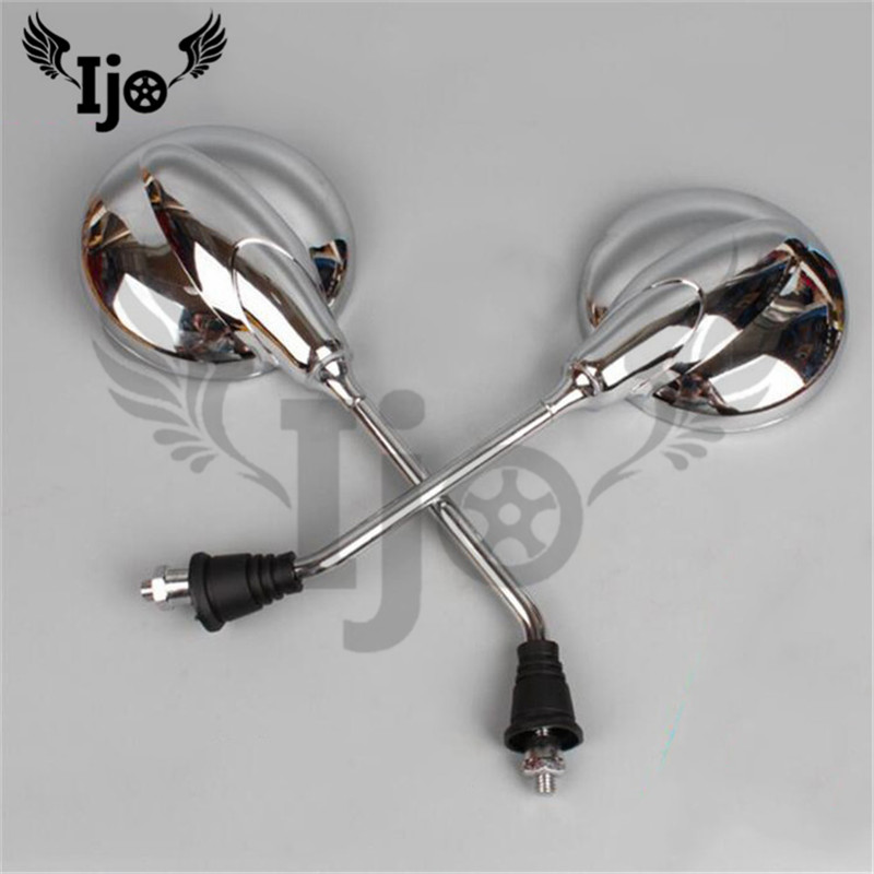 top quality chrome silver round motorcycle mirror for harley mirrors motorbike side mirror moto rear view mirror unviersal part