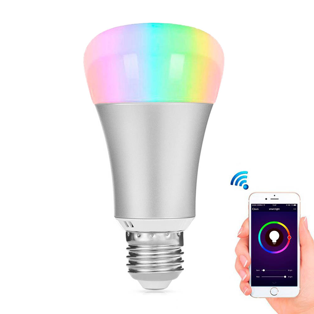 LED Smart Wireless Bluetooth 4.0 RGB Bulb E27 Base APP Control Home Decoration Lighting Music Colorful Change Dimmable Lamp Bulb e27 intelligent dimmable colorful led bluetooth speaker remote control smart home smart light bulb app control for ios android