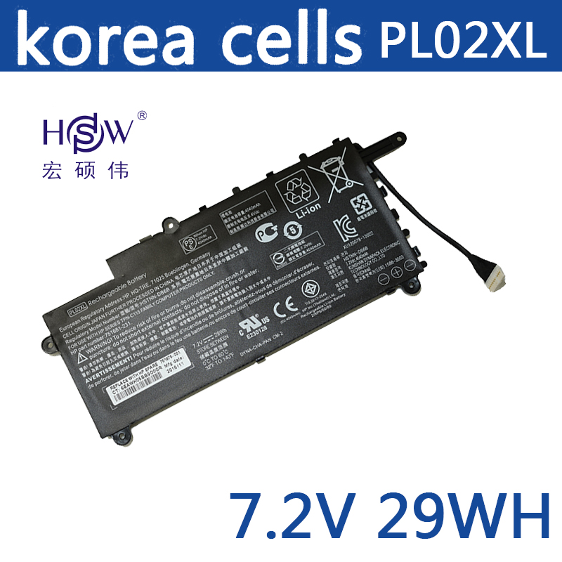 New Original 7.6V 29Wh PL02XL Battery for HP Pavilion 11 x360 751681-421 HSTNN-LB6B TPN-C115 Free shipping