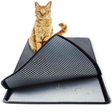 3 Størrelsesfarger Large Double Layer Kattemitter Mat Trapper EVA Vanntett Pad 3D Honeycomb Kitty Pet Rabbit Litter Catcher Mat