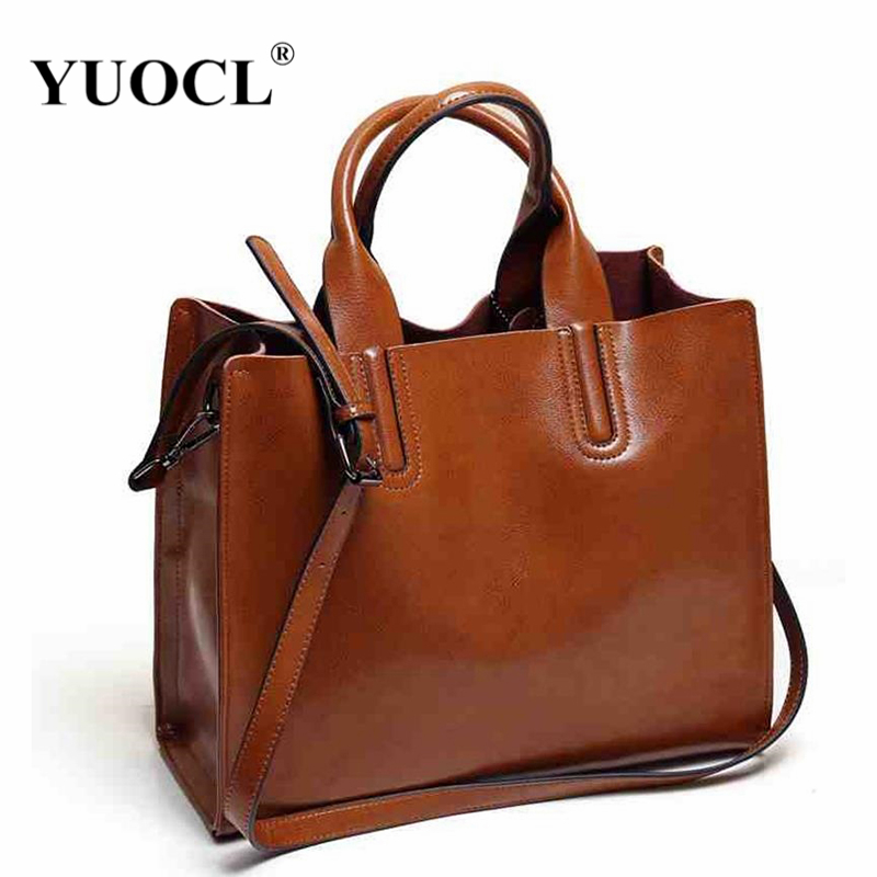 2018 Women Crossbody Messenger Bags Vintage Tote Shoulder Leather Handbags For Famous Luxury Brand Designer Bolsa Feminina Mujer