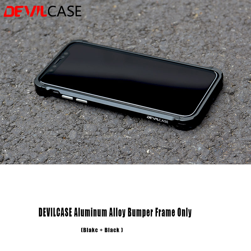 more photos 446d7 24b9f US $8.9 |DEVILCASE For iPhone X XS Aluminum Alloy Bumper Frame Casing Type  X Edition or 3D Curved Front Tempered Glass Protector Film-in Phone Screen  ...