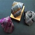 Moda Plaid Corbata de Poliéster 8 cm Lazos Hombres de Negocios de Lujo Del Banquete de Boda Lazos Gravata Corbatas para Hombre Regalos Del Festival