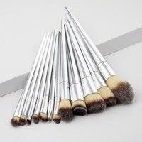 12Pcs Set Makeup Brushes Tools Kit Power Foundation Blush Eye Shadow Blending Fan Cosmetic Beauty Make