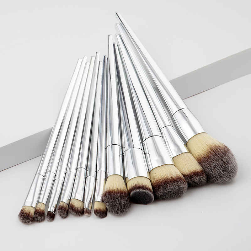 12Pcs/set Makeup Brushes Tools Kit Power Foundation Blush Eye Shadow Blending Fan Cosmetic Beauty Make Up Brush Maquiagem 10pcs professional makeup brushes set powder foundation eye shadow beauty face blusher cosmetic brush blending tools sx14