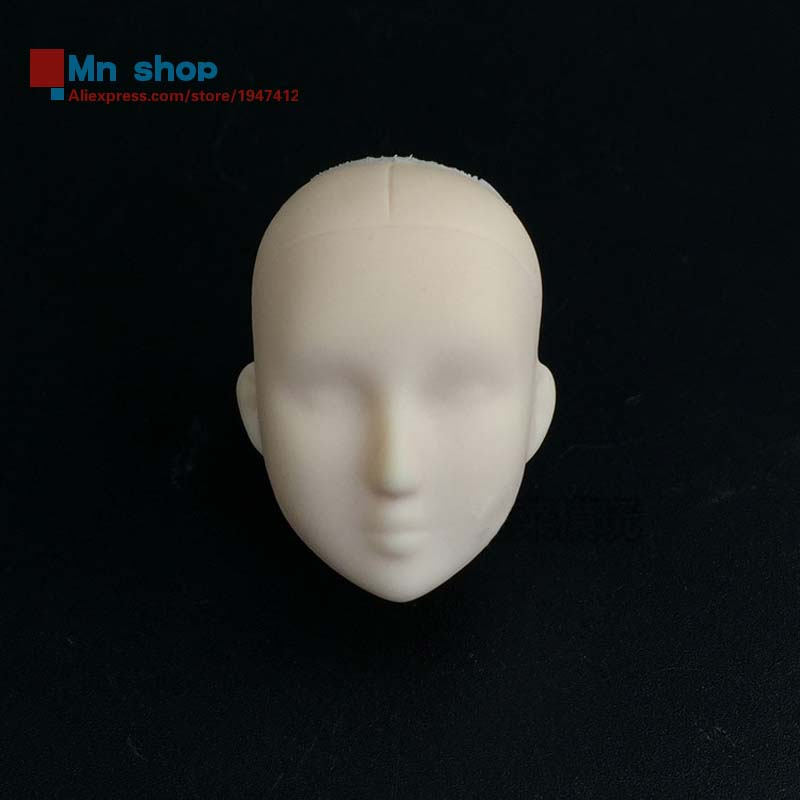 1/6 Headplay DIY Female Soldier Head Carved Practicing Makeup Model for 12'' Action Figure Body Toys