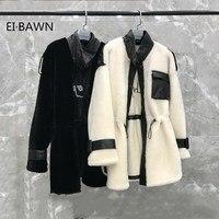 Реального чистого натурального меха зимняя куртка женская одежда 2019 корейский элегантный натуральным мехом шерстяное пальто куртка корот