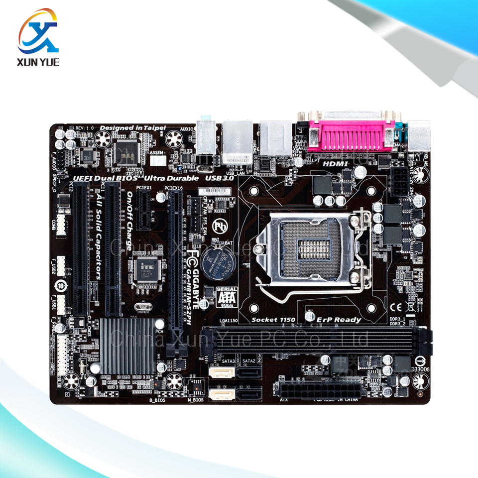 New asus h81m k motherboard cpu i3 i5 i7 lga1150 intel h81 ddr3 sata3 - For Gigabyte Ga H81m S2ph Original Used Desktop Motherboard H81m S2ph For Intel