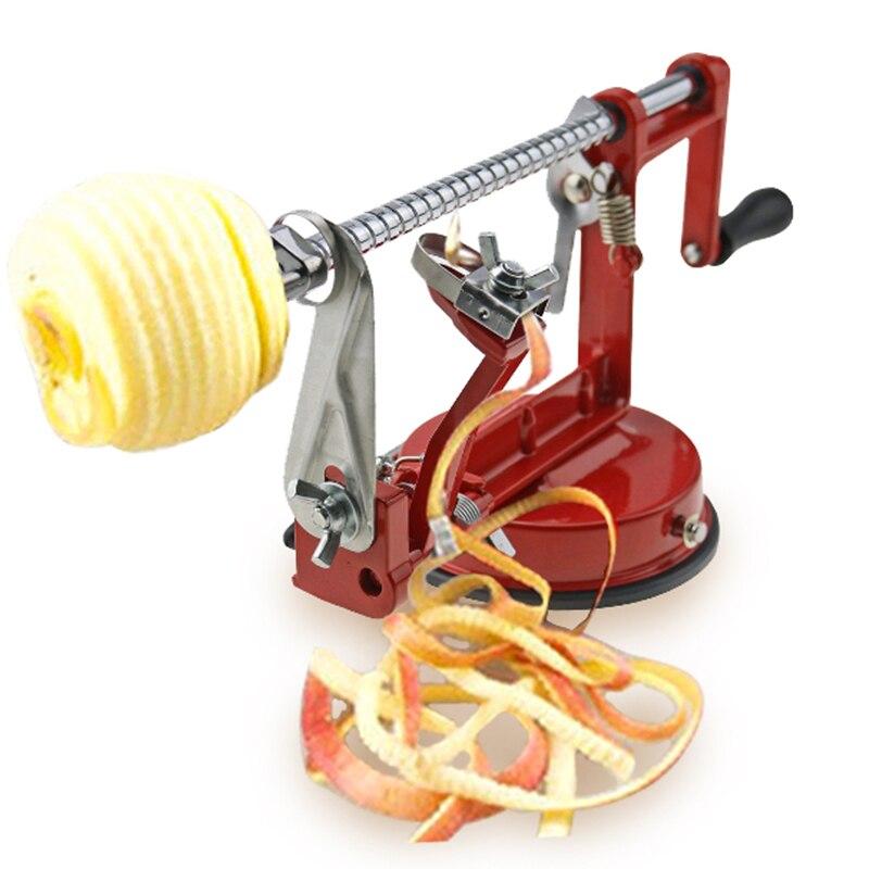 Éplucheur de fruits à manivelle en acier inoxydable 3 en 1 avec coupe-pommes éplucheur de pommes de terre trancheuse Machine outils de cuisine 30*10*13CM