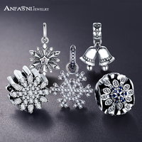 ANFASNI 2017 High Quality 925 Sterling Silver Charms Fit Original Bracelet Women Pendant Jewelry Making PSMB0484