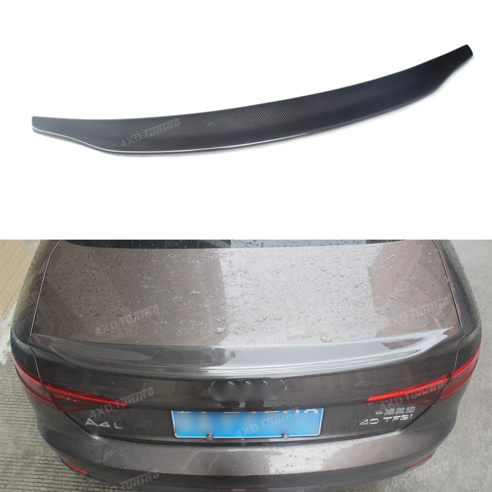For Audi A4 B9 Carbon Rear Spoiler Caractere Style Carbon Fiber Rear Spoiler Rear Trunk wing For Audi A4 B9 Rear Spoiler 2016-ON e60 carbon fiber rear trunk boot wing lip spoiler for bmw 5series m5 style 05 11