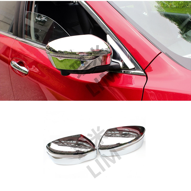 2Pcs/Lot ABS Rearview Mirror Cover Stickers Suitable for Nissan Xtrail X Trail Rogue T32 2014 2015 2016 Car Styling Accessories for nissan x trail xtrail t32 rogue 2014 2015 2016 abs chrome front hood grill cover bonnet trim cover car styling accessories