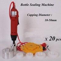 20 Sets Electric Capping Tools Equipment Handheld Pharmaceutical Bottle Capper Foils Jar Locking Machine
