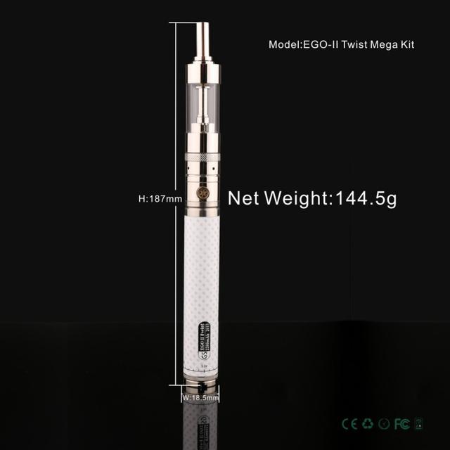 2017 Más Reciente Portátil Vaporizador cigarrillo electrónico GS eGo II Giro Mega Kit de fibra de Carbono 2200 mah batería giro eGo Electrónico cigarrillo